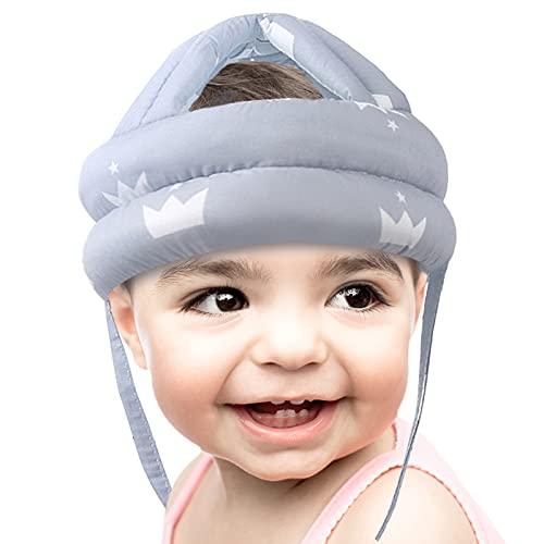 MHwan Casco Bebe, Protector Cabeza Bebe, Casco de Seguridad Ajustable Sombreros de protección anticolisión anticolisión para bebés niños niñas Que aprenden a Caminar