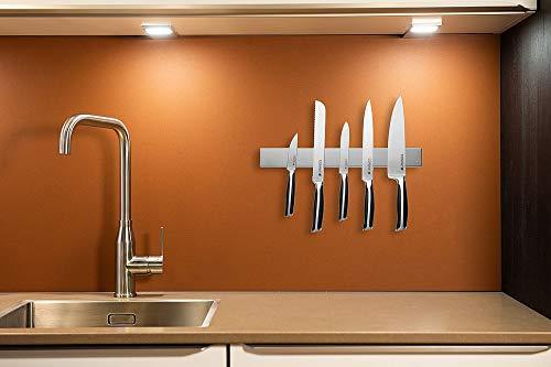 Edelstahl Messerhalter magnetisch/ Magnetleiste – 3 Jahre Garantie - 4