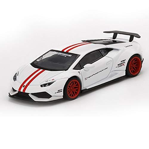 DXZJ 1:64 para Lambo Huracan Ver1 White W/Red Stripe RHD RHD/LHD Minigt TSM Diecast Model Car