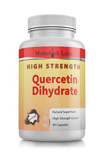 Pure Quercetin Capsules HIGH Strength (Dihydrate) Antioxidant : Premium Quality 700mg Per Capsule (90 Per Bottle)