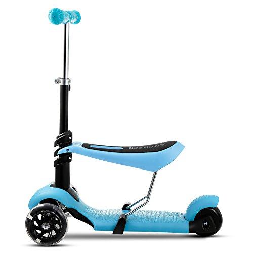 AMDirect Trottinette à Trois Roues - Vélo et Véhicule pour Enfant (bleu)