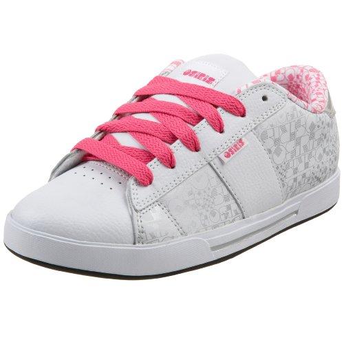 Osiris Women's Serve Skate Shoe,White/Silver/Vice,11 M
