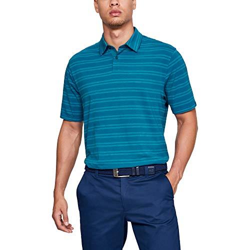 Under Armour CC Scramble Stripe Chemise Polo Homme, Bleu, M