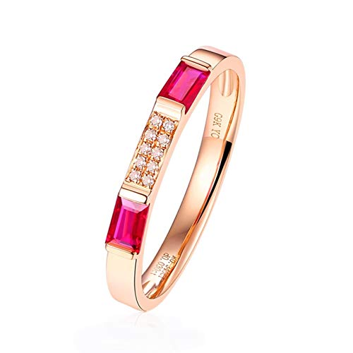 Ubestlove African Ruby Ring 50Th Birthday Gifts For Women Rectangle Ring J 1/2 Index Finger Ring