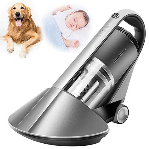GXXDM Aspirador de Mano inalámbrico para el hogar, Aspirador antiácaros del Polvo con Sistema de filtración de 5 Pliegues, Esterilizador UV pequeño para Cama, colchón, sofá