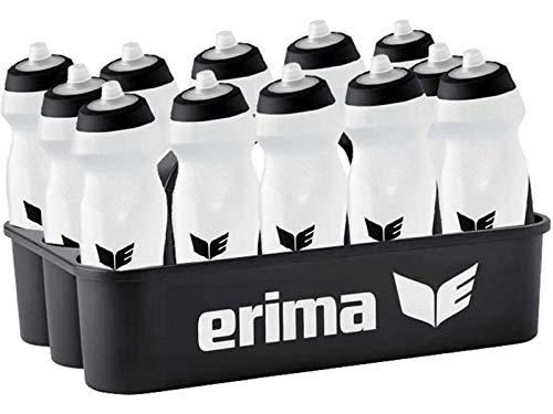 Sport-Kanze Erima Flaschenträger/Flaschenhalter inkl. 12 Trinkflaschen transparent