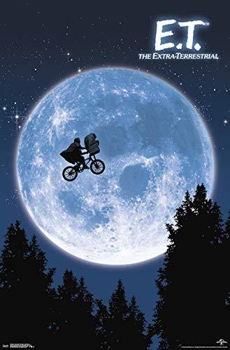 Xzmafthfrw Póster de decoración de Pared E.T. The Extra-Terrestrial - One Sheet Wall Poster Unframed Version,22.375' x 34'
