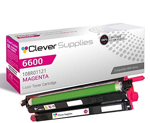 CS Compatible Drum Cartridge Replacement for Xerox 6600 108R01121 Magenta for Phaser 6600 Phaser 6600DN Phaser 6600N Phaser 6600YDN WorkCentre 6605 WorkCentre 6605DN WorkCentre 6605N -  Clever Supplies, CS-Xerox-6600-2nd-M