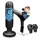 Best Boxing Bag Gloves - Inflatable Kids Punching Bag with Stand, Punching Boxing Review