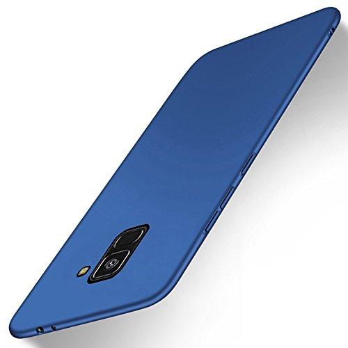 SMTR Samsung Galaxy A8 2018 Custodia, Ultra Sottile PC Back Case Protettiva Custodia per Samsung Galaxy A8 2018 Smartphone -Blu