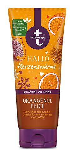 t: by tetesept Creme-Dusche Hallo Herzenswärme - Duschgel mit winterlicher Duftkomposition, Orangenöl und Feige - Pflegedusche vegan – 1 x 200 ml