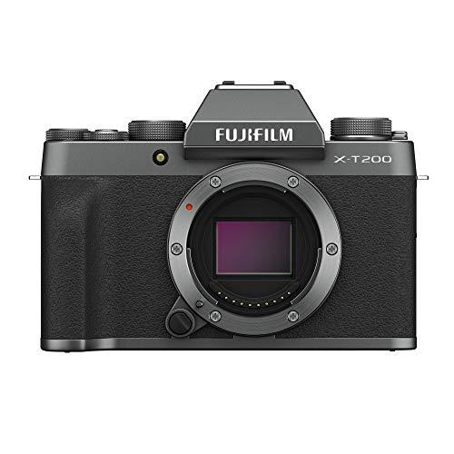 FUJIFILM X-T200 Systeemcamera met XC15-45 mmF3.5-5.6 OIS PZ Kit, donker-zilver