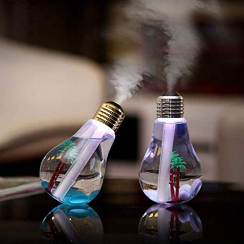 Glühbirne Luftbefeuchter USB Luftbefeuchter Buntes Nachtlicht Atmosphärenlicht LED Leuchten für Home, Office, Schlafzimmer, Dekoration