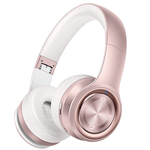 Hi-Fi Stereo Sound: Dual 40mm large-aperture driver units and Bluetooth 5.0 Tech provide more stable transmission speed, lower latency and better audio output. (NOTE: It needs a Bluetooth transmitter for TV without built-in Bluetooth) Comfortable: Me...