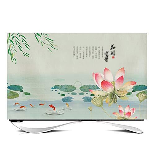catch-L Funda Compatible con Monitor TV LCD TV Decoración De La Cubierta de Polvo para Televisores y Monitores de 24' - 65' Pulgadas -GAOGUIMEI Cubierta Antipolvo(Size:60inch,Color:B)