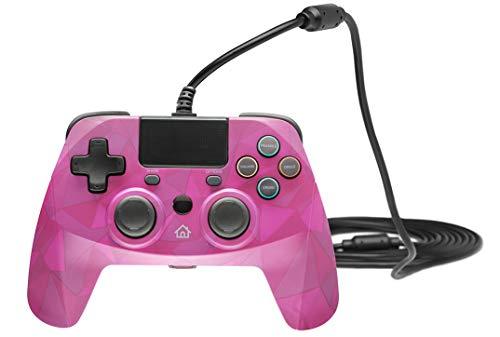 snakebyte PS4 GAME:PAD 4 S - bubblegum camouflage - kompatibel mit allen PlayStation 4 Modellen - 3m Kabellänge