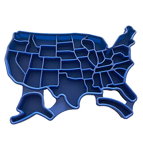 Sanbing American map silicona bandeja moldes con tapa hogar reutilizable seguridad para bebidas refrigeradas whisky