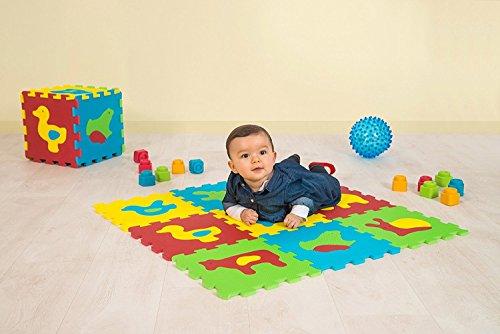 LUDI – Tapis de sol épais pour l'éveil de bébé – 1050 - puzzle géant aux...