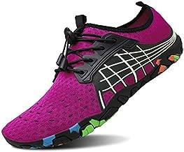 kealux Men Women Barefoot Quick-Dry Water Sports Shoes Multifunctional Sneakers -41(A.Pink)
