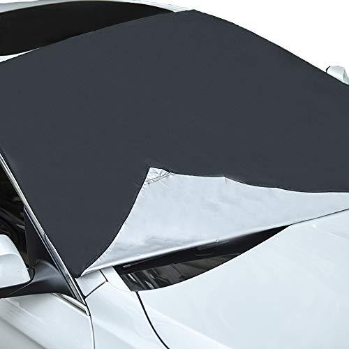 OOFIT Auto Sonnenschutz für Frontscheiben Frontscheibenabdeckung Auto Scheibenabdeckung Windschutzscheibe Abdeckung mit 8 Magnet für UV Schutz, gegen Staub, Schnee, Frost, universal, 210 * 120cm