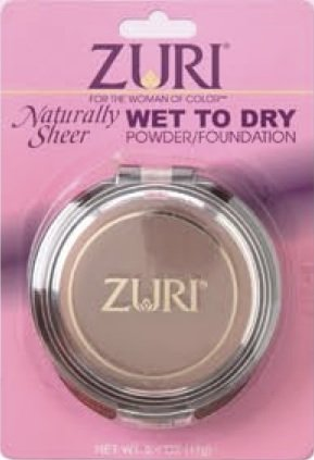 Zuri Naturally Sheer Wet To Dry Pressed Powder - Sahara Sunset
