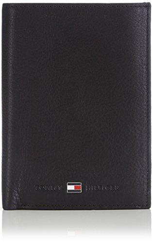 Tommy Hilfiger Johnson N/S Wallet W/Coin Pocket Porta Carte di Credito, 75 cm, Nero