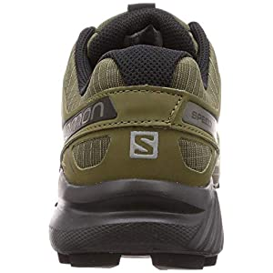 Salomon Men's Speedcross 4 Trail Running Shoes, Grape Leaf/Burnt Olive/Black, 10 Wide