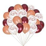 Colmanda Globos Dorados, 60 Piezas Globos de Confeti Dorados Kit Globos Dorados, Globos Metalizados Dorados Metalizados Confeti Globos para Aniversario Cumpleaños Fiestas de Decoraciones (Oro Rosa)