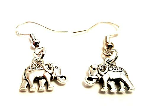 Small 3D Double Sided Elephant Earrings on Sterling Silver Hooks 12mm x 11mm Delivered in a Gorgeous Gift Bag Valentine's Day Gift