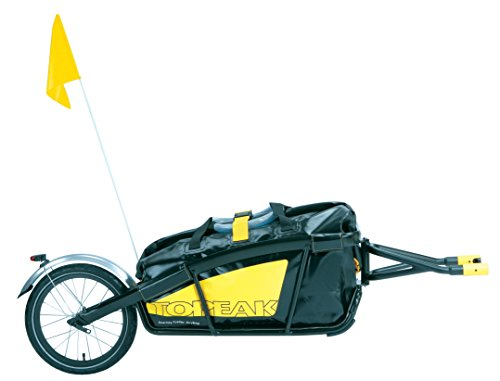 Topeak Journey Trailer Aluminum Main Frame Water Proof Drybag with Rear wheel, Rear Fender and Flag by Topeak