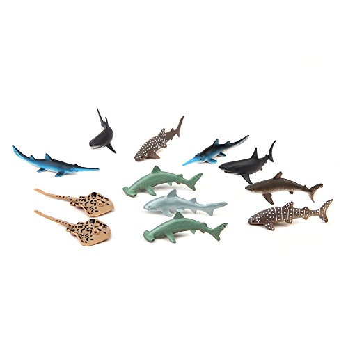 Fun Central 12 Pieces - Baby Shark Figure Toys for Toddlers Boys & Girls - Assorted Styles