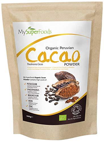 MySuperFoods Cacao Orgánico en Polvo 500 g, Fuente Natural de Potasio