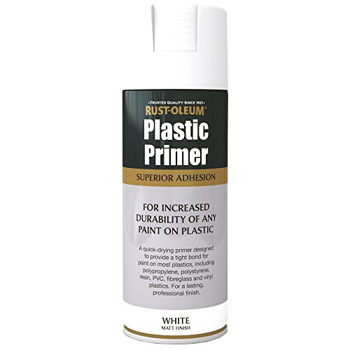 Rust-Oleum AE0030003E8 400ml Plastic Primer Spray Paint-White, Applicable