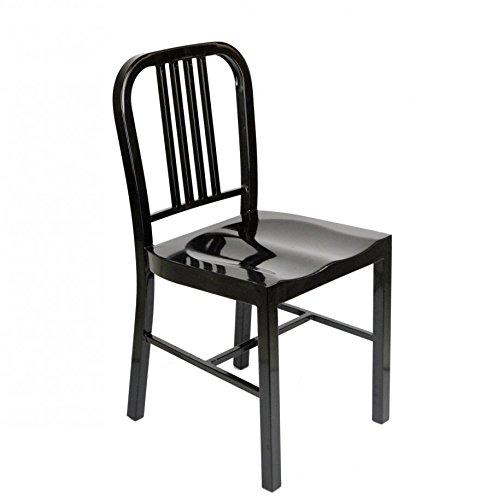 Bois & Design Chaise Design Moderne en polypropylène Noir