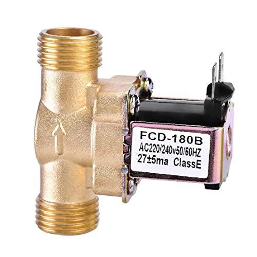 La válvula de Agua de latón eléctrica solenoide Normalmente Cerrado para el Control de Entrada de Agua del Interruptor de Flujo 220 de Oro, componentes industriales