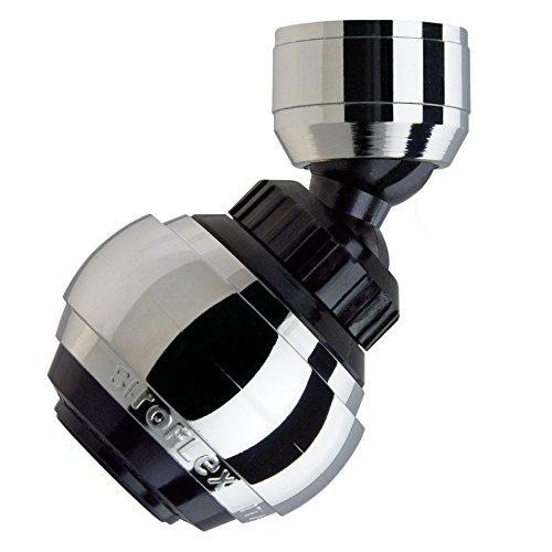Siroflex Saturn Aereatore 2525/5S, Made in Italy, Rompigetto per rubinetto cucina doppio snodo, ghiera in ottone, Aeratore Rubinetto, doccetta per lavandino, Rompigetto Rubinetto, Risparmio d'Acqua