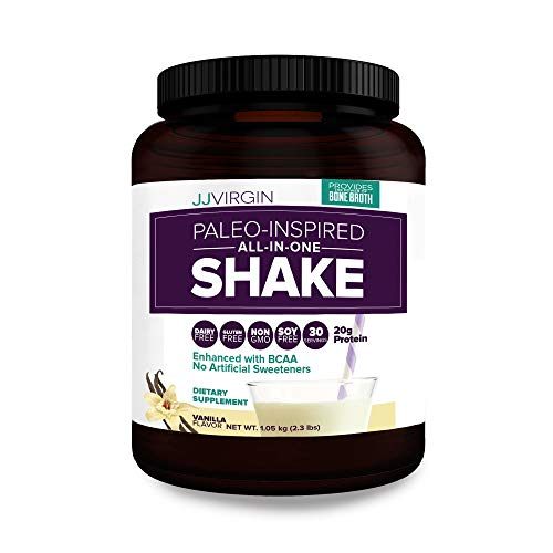 Reignite Wellness by JJ Virgin Vanilla Paleo-Inspired All-in-One Shake - Paleo and Keto Diet Friendly - 20 Grams of Protein (30 Servings, 2.3 lbs)