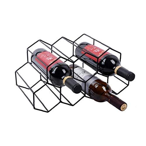 Berrywho Estante del Vino Vino de Almacenamiento de Soporte 7 Botella del sostenedor del Vino del Estante del Soporte del Soporte para Ahorrar Espacio Protector de la encimera Libre Estante del Vino