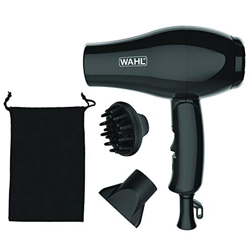 Wahl 3402–04701000W schwarz Haartrockner–Haartrockner (schwarz, mit Loch in der Griff für Aufhängen, AC, Einfarbig, 1000W, 115–240)
