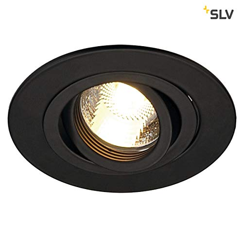 Slv new tria - Downlight xl circular gu10 50w negro