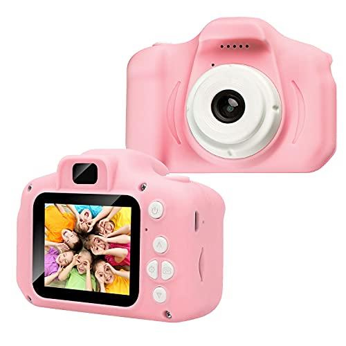 Kinder Fotoapparat - Kinderkamera mit 2,0 Zoll 1080P HD IPS-Bildschirm Eingebaute 32 GB SD-Karte USB Wiederaufladbare Kinderspielzeugkamera für 3-10 Jahre alte Jungen Mädchen Geburtstagsgeschenk