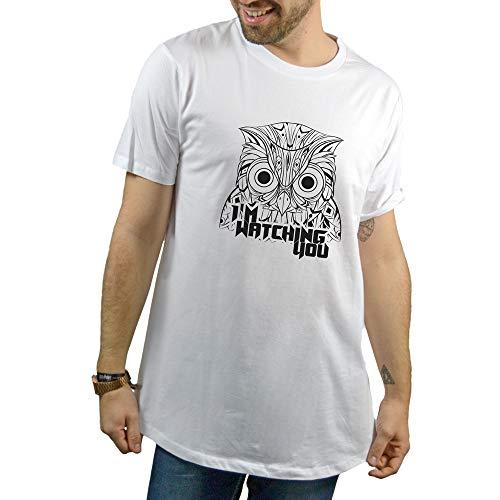 SUPERMOLON Camiseta Unisex I'm Watching You Modelo Long