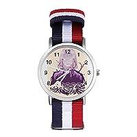鬼滅の刃 編むバンド 腕時計 ナイロンバンド 時計 日常 生活 ムーブメント ファッション 男女兼用 編まれた一見 成人祭 贈り物