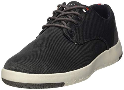 Tommy Hilfiger Herren Lightweight Textile LACE UP Shoe Mokassin, Grau (Dark Ash Pty), 45 EU