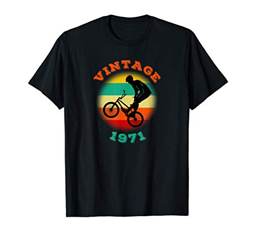 BMX Vintage 1971 Birthday Bicycle BMXer Bike Gift T-Shirt