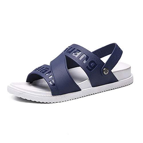 MedusaABCZeus Mode Strand Hausschuhe Flacher Anti Rutsch,Large Size one-Piece Tow Men's, Non-Slip Beach Sandals-Blue_39,Anvas Flip Zehentrenner