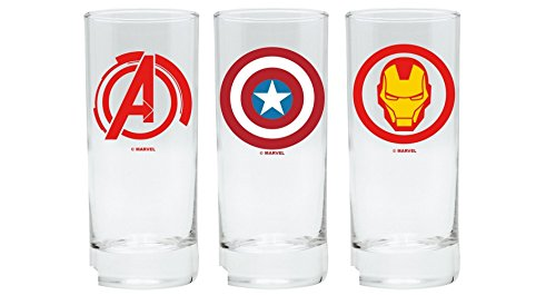 Marvel Comics Lot de 3 verres Avengers Captain America Iron Man