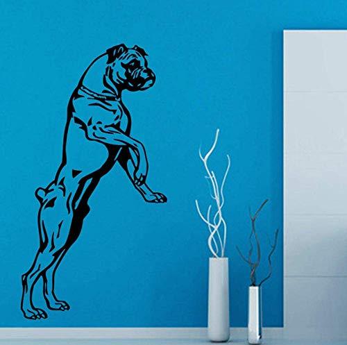 Etiqueta De La Pared Habitación De Los Niños Art Deco Habitación De Los Niños Hogar Boxer Perro Extraíble Diy Animal Etiqueta De La Pared 58X31Cm Adesivo De Parede Etiqueta De La Pared