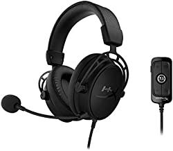 HyperX Cloud Alpha S - PC Gaming Headset, 7.1 Surround Sound, Adjustable Bass, Dual Chamber Drivers, Breathable Leatherette, Memory Foam, & Noise Cancelling Mic - Blackout HX-HSCAS-BK/WW (Renewed)