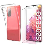 SMYTU Funda para Samsung Galaxy S20 FE,Transparente Carcasa Ultra-Delgado Silicona Suave TPU Gel Bumper Protectora Case Cover para Samsung Galaxy S20 FE 5G-Transparente